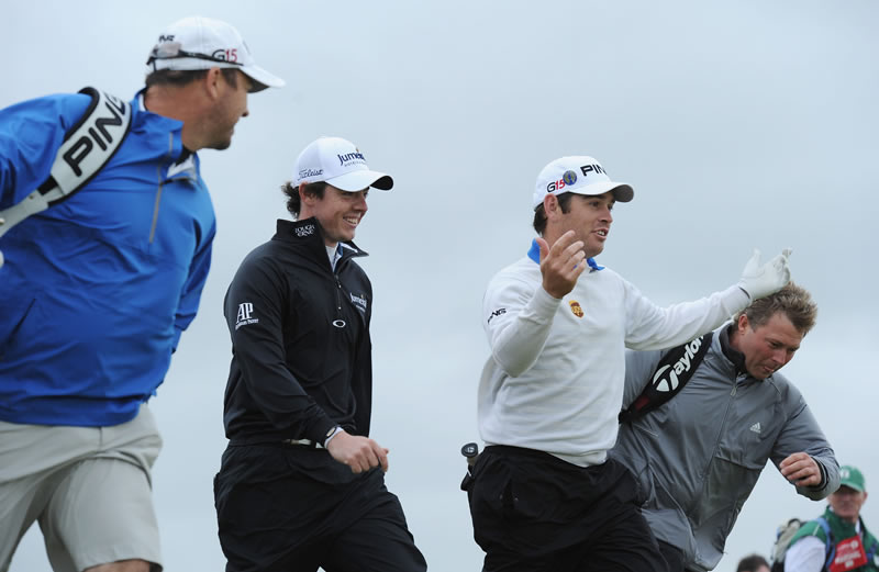 Rory McIlroy and Louis Oosthuizen