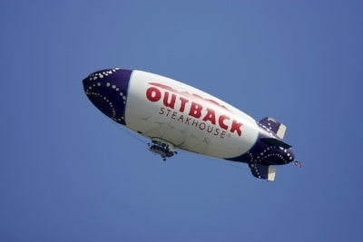 The Outback blimp soars above tournament during the first round of the Outback Steakhouse Pro-Am held at TPC Tampa Bay in Lutz, Florida, on February 16, 2007. Photo by: Stan Badz/PGA TOURPhoto by: Stan Badz/PGA TOUR