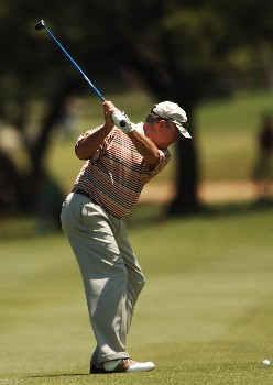 Dave Stockton hits from the 10th fairway during the final round of the 2005 FedEx Kinko's Classic at the Hills Country Club in Austin, Texas May 1, 2005.Photo by Steve Grayson/WireImage.com