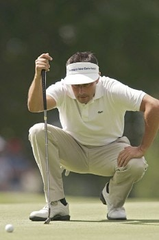 Jean Van De Velde during the third round of the 2005 Omega European Masters at the Crans-sur-Sierre Golf Club in Crans-Montana, Switzerland on September 3, 2005.Photo by Pete Fontaine/WireImage.com