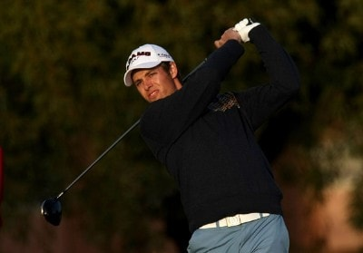 Aaron Baddeley of Australia hits his tee shot on the fifth hole during the first round of the FBR Open on January 31, 2008 at TPC of Scottsdale in Scottdsdale, Arizona. PGA TOUR - 2008 FBR Open - Round OnePhoto by Stephen Dunn/Getty Images