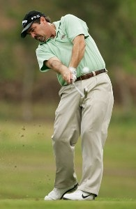 Ben Bates hits from the 6th tee during the third round of the Movistar Panama Championship held on January 26, 2008 at Club de Golf de Panama in Panama City, Panama. Nationwide Tour - 2008 Movistar Panama Championship - Round ThreePhoto by Stan Badz/PGA TOUR/Getty Images