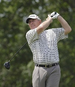 Hale Irwin during the first round of the Liberty Mutual Legends of Golf at Westin Savannah Harbor Golf Resort & Spa in Savannah, Georgia, on April 21, 2006.