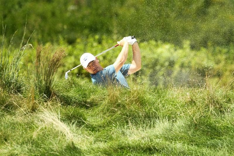 NORTON, MA - SEPTEMBER 05:  Ernie Els of South Africa hits a shot on the fifth hole in the third round of the Deutsche Bank Championship at TPC Boston on September 5, 2010 in Norton, Massachusetts.  (Photo by Mike Ehrmann/Getty Images)