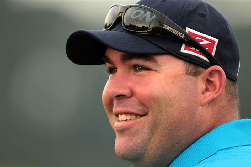 PONTE VEDRA BEACH, FL - MAY 11:  Kevin Stadler smiles during a practice round prior to the start of THE PLAYERS Championship held at THE PLAYERS Stadium course at TPC Sawgrass on May 11, 2011 in Ponte Vedra Beach, Florida.  (Photo by Scott Halleran/Getty Images)