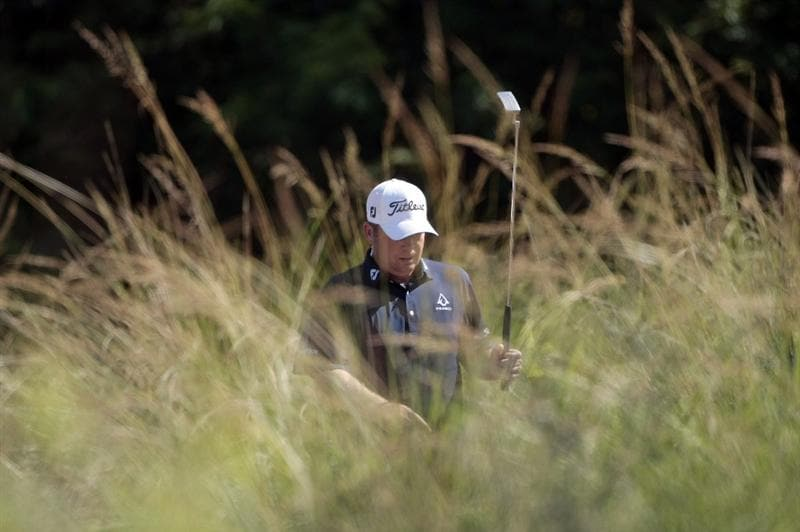 AVONDALE, LA - APRIL 23: Dudley Hart walks through the tall grass on the 13th hole during the first round of the Zurich Classic at TPC Louisiana on April 23, 2009  in Avondale, Louisiana. (Photo by Dave Martin/Getty)