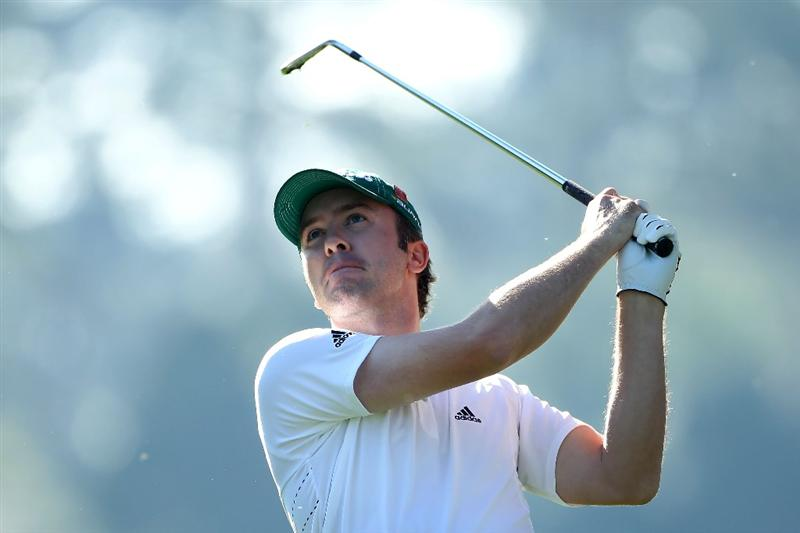 AUGUSTA, GA - APRIL 07:  Martin Laird of Scotland watches a shot on the first hole during the first round of the 2011 Masters Tournament at Augusta National Golf Club on April 7, 2011 in Augusta, Georgia.  (Photo by Andrew Redington/Getty Images)