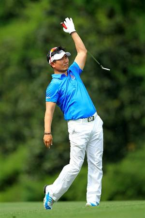 AUGUSTA, GA - APRIL 09:  Y.E. Yang of South Korea hits from the fifth fairway during the third round of the 2011 Masters Tournament at Augusta National Golf Club on April 9, 2011 in Augusta, Georgia.  (Photo by David Cannon/Getty Images)