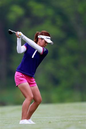 GLADSTONE, NJ - MAY 19:  Hee Young Park of South Korea hits her second shot to the second hole during round one of the Sybase Match Play Championship at Hamilton Farm Golf Club on May 19, 2011 in Gladstone, New Jersey.  (Photo by Chris Trotman/Getty Images)
