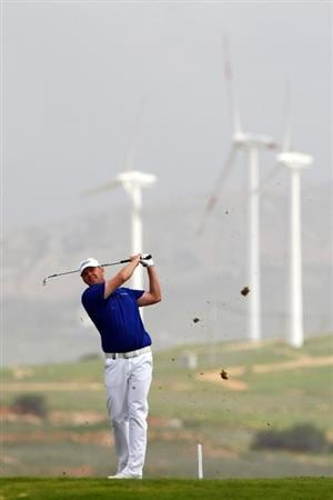 MADEIRA, PORTUGAL - MARCH 19:  Joakim Haeggman of Sweden tees off from the fifteenth during round one of the Madeira Islands Open BPI at the Porto Santo Golfe Club on March 19, 2009 in Porto Santo,Portugal.  (Photo by Michael Steele/Getty Images)
