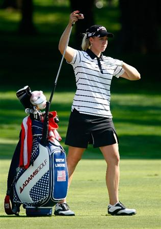 BETHLEHEM, PA - JULY 09:  Brittany Lincicome pulls a club during the first round of the 2009 U.S. Women's Open at the Saucon Valley Country Club on July 9, 2009 in Bethlehem, Pennsylvania.  (Photo by Scott Halleran/Getty Images)