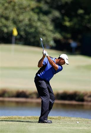 MADISON, MS - OCTOBER 02: Arjun Atwal of India hits his tee shot on the second hole during the third round of the Viking Classic held at Annandale Golf Club on October 2, 2010 in Madison, Mississippi.  (Photo by Michael Cohen/Getty Images)