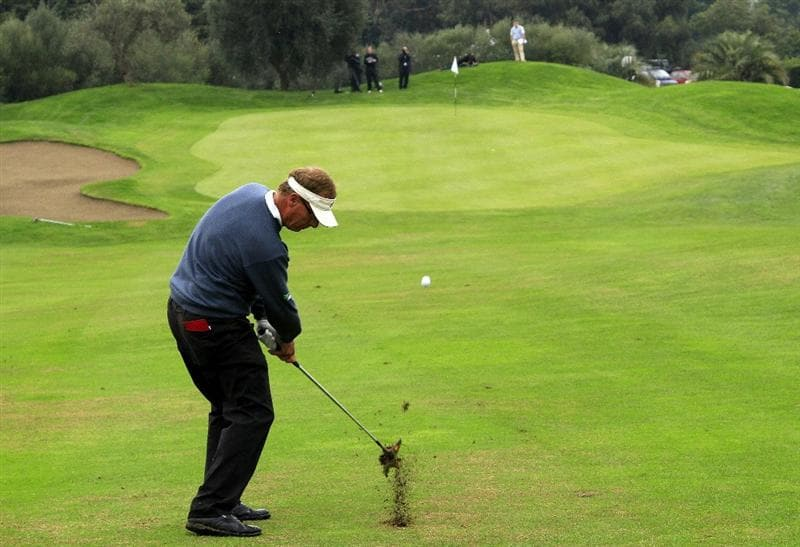 CATANIA, ITALY - OCTOBER 24:  Domingo Hospital of Spain in action during the final round of the Sicilian Senior Open played at Il Picciolo Golf Club on October 24, 2010 in Catania, Italy.  (Photo by Phil Inglis/Getty Images)
