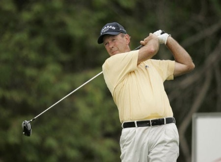Larry Nelson on the 13th hole during the second round of the Constellation Energy Classic being held at Hayfields Country Club in Hunt Valley, Maryland on September 17, 2005.Photo by Mike Ehrmann/WireImage.com