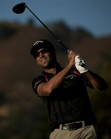SAN MARTIN, CA - OCTOBER 14:  James Nitties of Australia makes a tee shot on the 10th hole during the first round of the Frys.com Open at the CordeValle Golf Club on October 14, 2010 in San Martin, California.  (Photo by Robert Laberge/Getty Images)