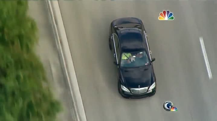 Tiger Woods car chase