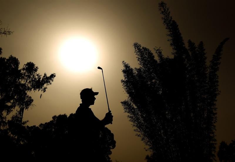 RABAT, MOROCCO - MARCH 18:  Nick Dougherty of England tee's off at the 17th during the first round of the Hassan II Golf Trophy at Royal Golf Dar Es Salam on March 18, 2010 in Rabat, Morocco.  (Photo by Richard Heathcote/Getty Images)