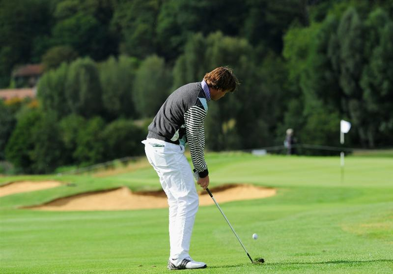 PARIS - SEPTEMBER 25:  Robert - Jan Derksen of The Netherlands plays his approach shot on the 10th hole during the third round of the Vivendi cup at Golf de Joyenval on September 25, 2010 in Chambourcy, near Paris, France.  (Photo by Stuart Franklin/Getty Images)