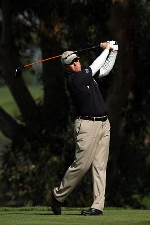 LA JOLLA, CA - JANUARY 30:  D.A. Points tees off the 5th hole during the third round of the 2010 Farmers Insurance Open on January 30, 2010 at Torrey Pines Golf Course in La Jolla, California. (Photo by Donald Miralle/Getty Images)