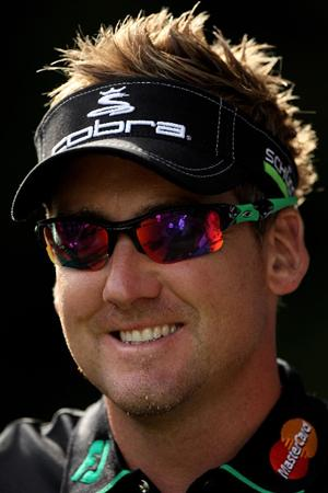 VIRGINIA WATER, ENGLAND - MAY 25:  Ian Poulter of England smiles during the Pro-Am round prior to the BMW PGA Championship at Wentworth Club on May 25, 2011 in Virginia Water, England.  (Photo by Andrew Redington/Getty Images)