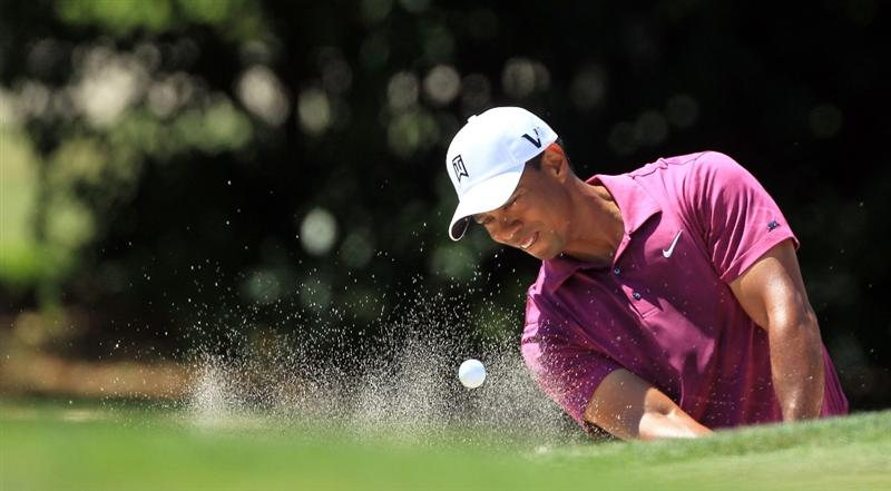 ORLANDO, FL - MARCH 26:  Tiger Woods of the USA plays his third shot at the 1st hole during the third round of the 2011 Arnold Palmer Invitational presented by Mastercard at the Bay Hill Lodge and Country Club on March 26, 2011 in Orlando, Florida.  (Photo by David Cannon/Getty Images)