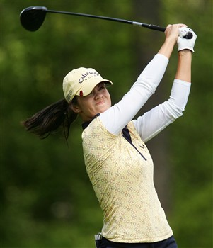 CORNING, NY - MAY 24:  Leta Lindley hits her tee shot on the 14th hole during the third round of the LPGA Corning Classic at Corning Country Club on May 24, 2008 in Corning, New York.  (Photo by Kyle Auclair/Getty Images)