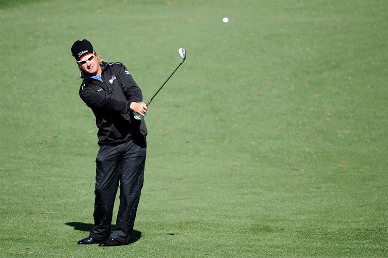AUGUSTA, GA - APRIL 05:  Charley Hoffman plays a shot during a practice round prior to the 2011 Masters Tournament at Augusta National Golf Club on April 5, 2011 in Augusta, Georgia.  (Photo by Harry How/Getty Images)