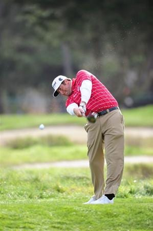PEBBLE BEACH, CA - FEBRUARY 11:  Steve Marino plays a shot on the sixth hole during round one of the AT&T Pebble Beach National Pro-Am at Monterey Peninsula Country Club Shore Course on February 11, 2010 in Pebble Beach, California.  (Photo by Stuart Franklin/Getty Images)