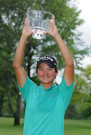 CORNING, NY - MAY 24:  Yani Tseng of Taiwan holds the trophy after winning the LPGA Corning Classic at the Corning Country Club held on May 24, 2009 in Corning, New York.  (Photo by Michael Cohen/Getty Images)