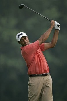 Arjun Atwal tees off on #15 in the third round of the 2005 B.C. Open at En-Joi Golf Club in Endicott, New York. Saturday, July 16 2005.Photo by Chris Condon/PGA TOUR/WireImage.com