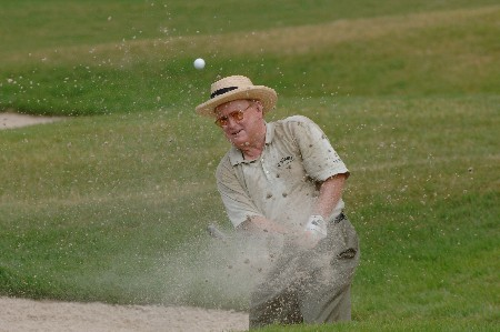 Bob Murphy blasts from the sand on the 10th hole  during the first round of  the 2005 Bruno's Memorial Classic, May 20, in Hoover, Al.Photo by Al Messerschmidt/WireImage.com