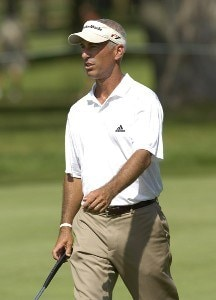 Corey Pavin during the third round of the U.S. Bank Championship in Milwaukee at Brown Deer Park Golf Course in Milwaukee, Wisconsin, on July 29, 2006.Photo by Steve Levin/WireImage.com