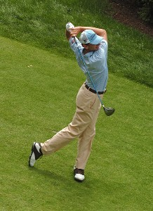 Brad Faxon during the final round of the Barclays Classic held at Westchester Country Club in Rye, New York on June 11, 2006.