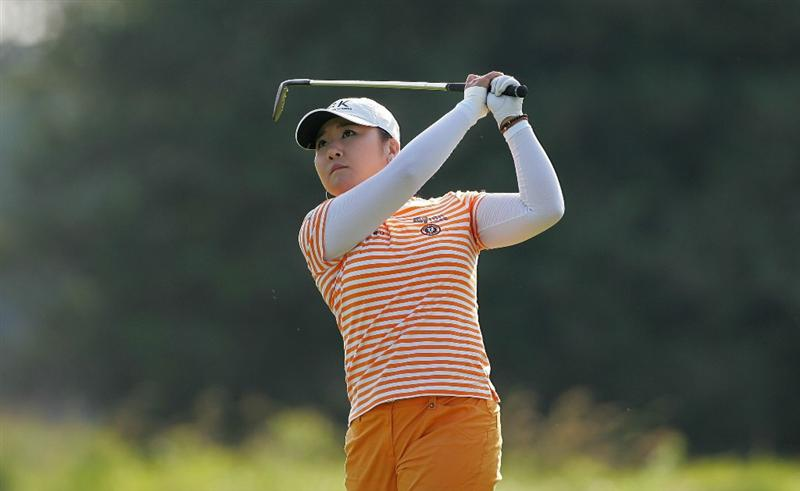 GALLOWAY, NJ - JUNE 19:  Jeong Jang of South Korea hits a shot from the fairway during the second round of the ShopRite LPGA Classic held at Dolce Seaview Resort (Bay Course) on June 19, 2010 in Galloway, New Jersey.  (Photo by Michael Cohen/Getty Images)