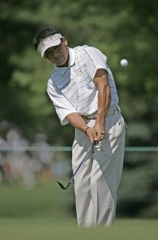 Shigeki Maruyama of Japan on the first hole during the first round of the NEC Invitational at Firestone Country Club in Akron, Ohio on August 18, 2005..Photo by Chris Condon/PGA TOUR/WireImage.com