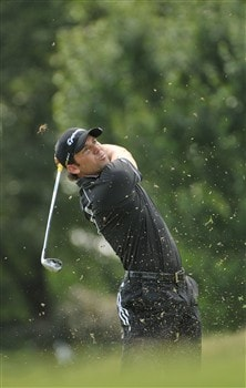 MEMPHIS, TN - JUNE 06: Sergio Garcia hits his approach shot into the 9th hole during the second round of the Standford St. Jude Championship at the TPC Southwind on June 6, 2008 in Memphis, Tennessee (Photo by Marc Feldman/Getty Images)