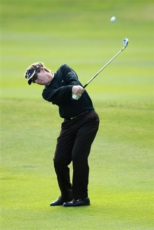 ESTORIL, PORTUGAL - JUNE 10:  Carl Suneson of Spain plays his second shot into the first green during the first round of the Estoril Open de Portugal at Penha Longa Golf Club on June 10, 2010 in Estoril, Portugal.  (Photo by Warren Little/Getty Images)
