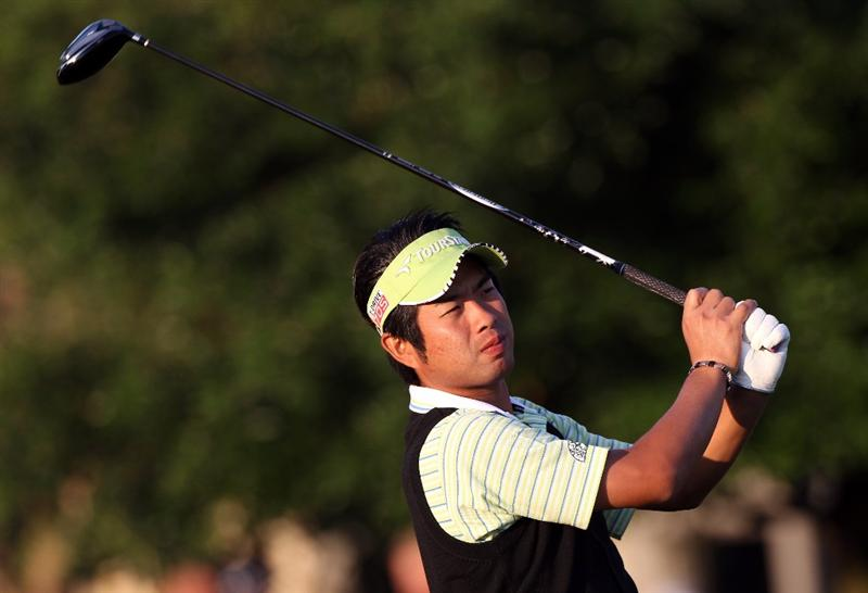 ORLANDO, FL - MARCH 25:  Yuta Ikeda of Japan plays a shot on the 1st hole during the second round of the Bay Hill Invitational presented by MasterCard at the Bay Hill Club and Lodge on March 25, 2011 in Orlando, Florida.  (Photo by Sam Greenwood/Getty Images)