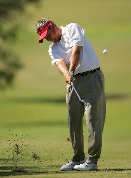 SAN ANTONIO - OCTOBER 20:  John Cook hits a shot on the sixth hole during the second round of the AT&T Championship at Oak Hills Country Club October 20, 2007 in San Antonio, Texas.  (Photo by S.Greenwood/Getty Images)