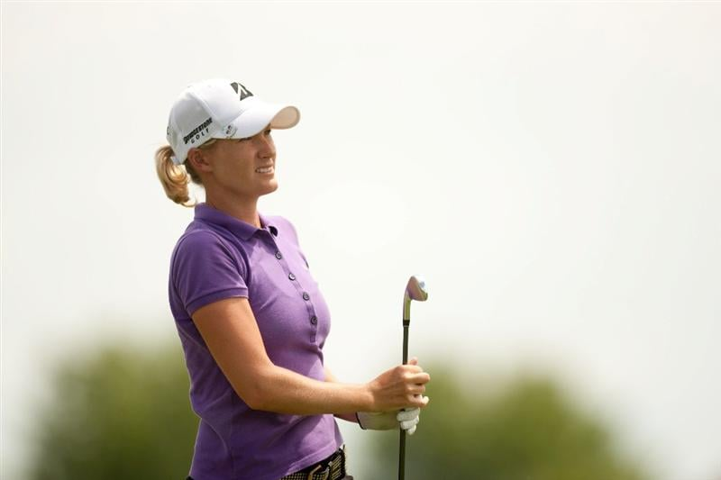 SPRINGFIELD, IL - JUNE 10: Sarah Jane Smith of Australia watches a tee shot during the first round of the LPGA State Farm Classic at Panther Creek Country Club on June 10, 2010 in Springfield, Illinois. (Photo by Darren Carroll/Getty Images)