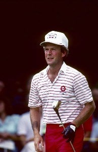 Larry Nelson during the 1983 U.S. Open Championships at Oakmont Country Club in Oakmont, Pennsylvania in June 1983.Photo by Al Kooistra/WireImage.com