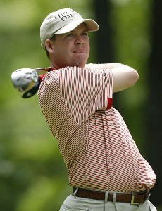 Joe Ogilvie in action during the first round of the Deutsche Bank Championship at TPC Boston, in Norton, Massachusetts, Friday, September 1, 2006Photo by Jim Rogash/WireImage.com