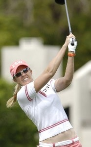 Jill McGill during second round action at the Kraft Nabisco Championship at The Mission Hills Country Club in Rancho Mirage, California on Friday, March 31, 2006.Photo by Steve Levin/WireImage.com