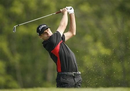 DUBLIN, OH - MAY 30: Nick Watney hits his tee shot on the 3rd hole during the second round of the Memorial Tournament at Muirfield Village Golf Club on May 30, 2008 in Dublin, Ohio. (Photo by Hunter Martin/Getty Images)