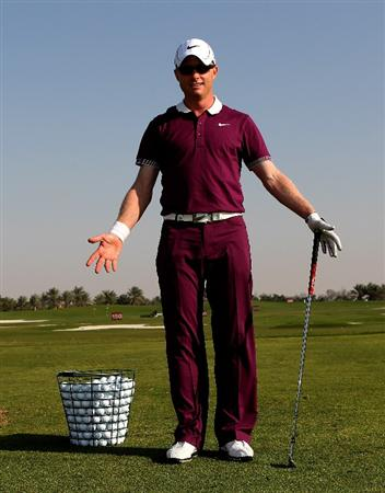 ABU DHABI, UNITED ARAB EMIRATES - JANUARY 22:  Simon Dyson of England poses for a portrait after the second round of The Abu Dhabi Golf Championship at Abu Dhabi Golf Club on January 22, 2010 in Abu Dhabi, United Arab Emirates.  (Photo by Andrew Redington/Getty Images)