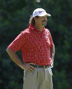 Carlos Franco during a practice round prior to the 2006 Wachovia Championship at the Quail Hollow Club in Charlotte, North Carolina on May 2, 2006.Photo by Kevin C.  Cox/WireImage.com