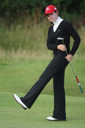 LYTHAM ST ANNES, ENGLAND - JULY 30:  Lorena Ochoa of Mexico reacts to her putt on the 3rd green during the first round of the 2009 Ricoh Women's British Open Championship held at Royal Lytham St Annes Golf Club, on July 30, 2009 in  Lytham St Annes, England.  (Photo by David Cannon/Getty Images)