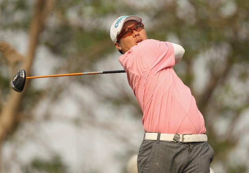 NEW DELHI, INDIA - FEBRUARY 13:  Chih-Bing Lam of Singapore in action during Round Three of the Avantha Masters held at The DLF Golf and Country Club on February 13, 2010 in New Delhi, India.  (Photo by Ian Walton/Getty Images)