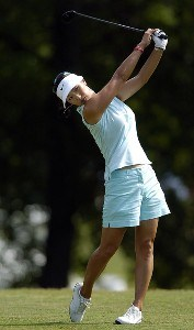 Grace Park tees off during the first round of the LPGA Florida's Natural Charity Championship on Thursday, April 20, 2006, at EagleOs Landing Country Club in Stockbridge, Georgia.Photo by Grant Halverson/WireImage.com