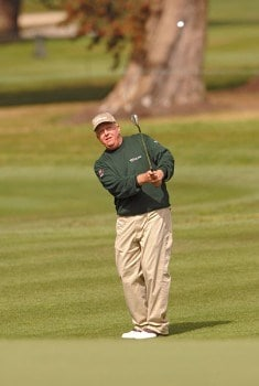 Billy Mayfair hitting from the seventh fairway during the second round of The World Golf Championships 2005 American Express Championship at Harding Park Golf Club in San Francisco, California on October 7, 2005.Photo by Steve Grayson/WireImage.com